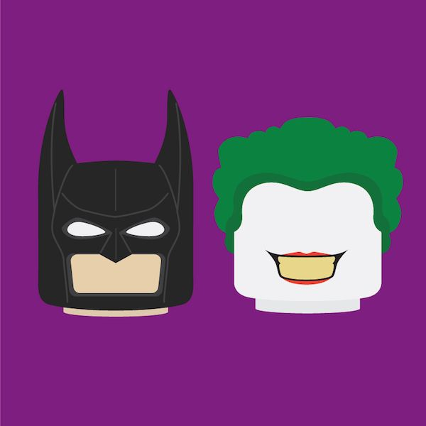 Minimalist Illustrations Show The Evolution Of Batman, The Joker Over 75 Years - DesignTAXI.com