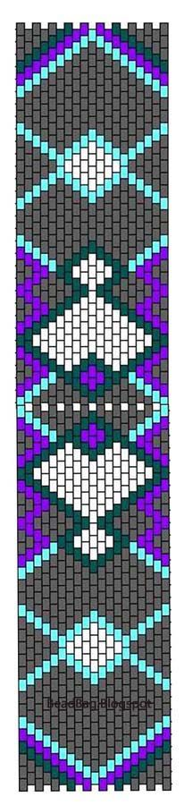 Peyote (Brickstitch) Chart for Bracelet, bookmark ......... use Miyuki Delicas