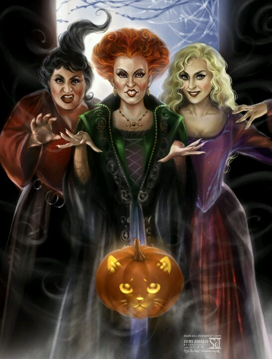 Hocus Pocus cartoon Witches