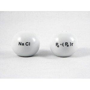 nerd alert :) Good Chemistry Porcelain Salt and Pepper Shakers