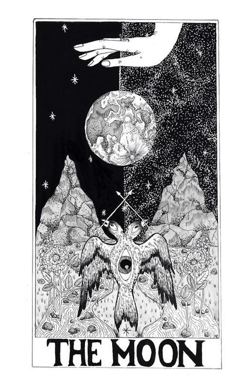 Image result for the moon tarot