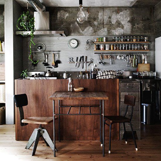 Industrial Meets Rustic In This Kitchen: 29 Best Bike Shop Images On Pinterest