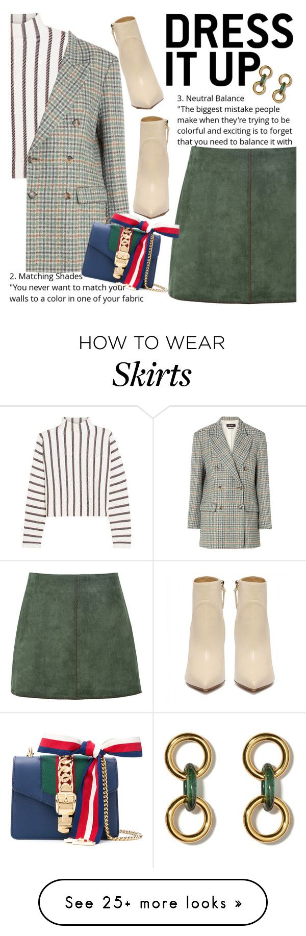 """Untitled #2957"" by anarita11 on Polyvore featuring Maje, Isabel Marant, George J. Love and Gucci"