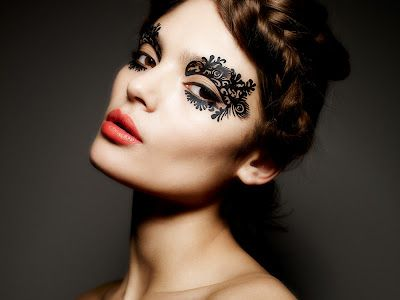 Face Lace by Phyllis Cohen (great for Burlesque-themed party or a masquerade) Pixiwoo