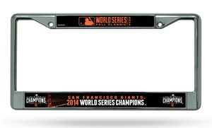 Groupon -  San Francisco Giants 2014 World Series Champions License-Plate Frame  price: $11.99