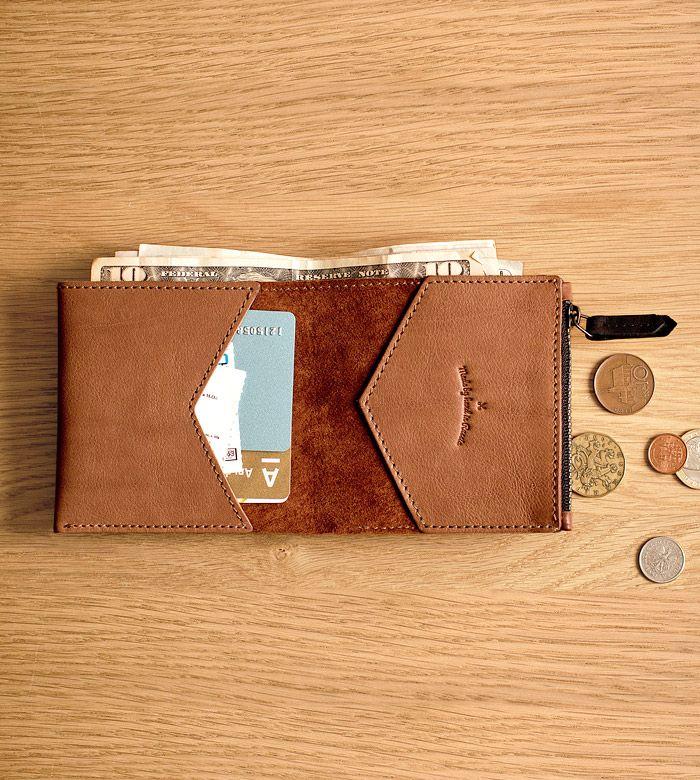 Бумажник Hanker из натуральной кожи ручной работы от Handwers.
