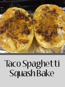 Taco Spaghetti Squash Bake - Low Carb and Gluten Free Dinner Idea