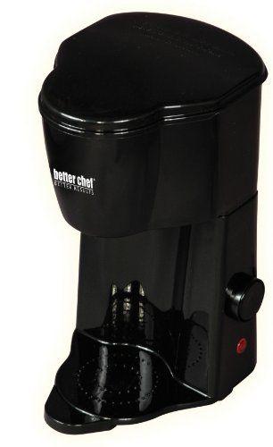 Better Chef IM-102B Peronal 1-Cup Coffee Maker - http://teacoffeestore.com/better-chef-im-102b-peronal-1-cup-coffee-maker/