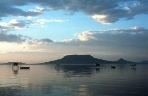Quiet evening at the Balaton lake - Hungary