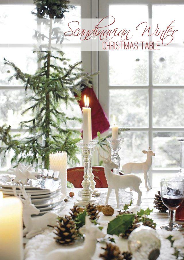 How to Create a Scandinavian Christmas Table
