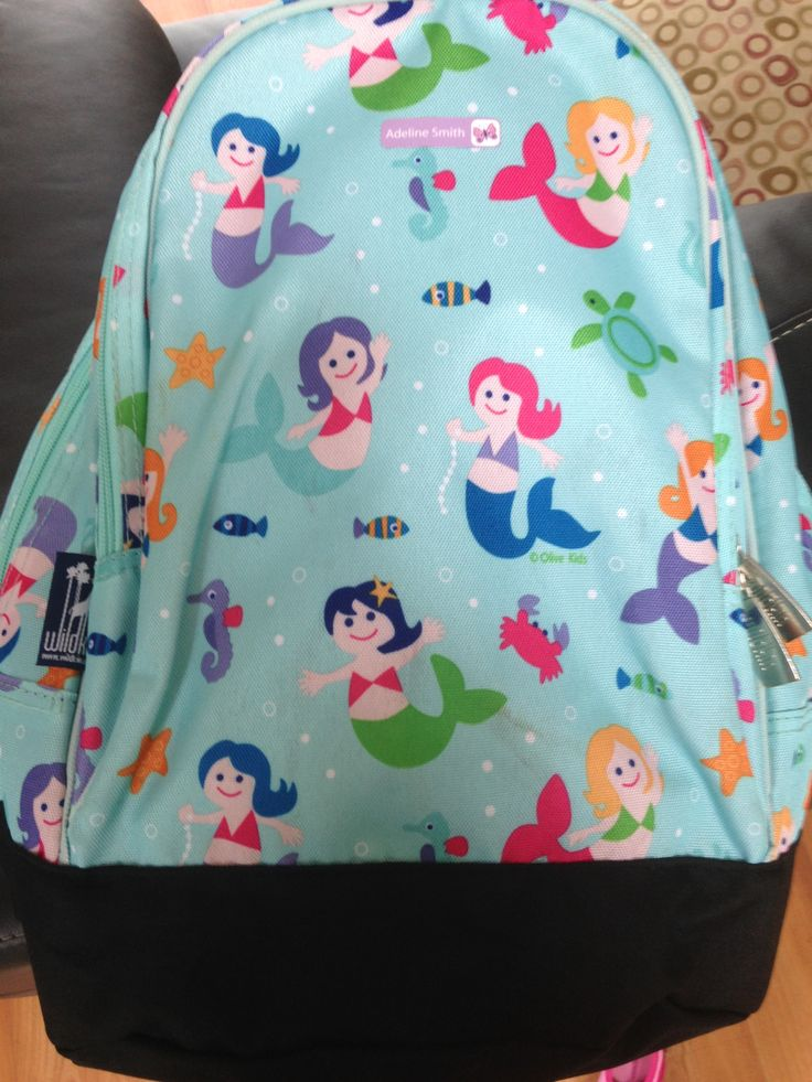 Wildkin Olive Kids Mermaids Sidekick Backpack A. Amazon - $22.02 B. I let my daughter chose her favorite fabric from the many choices in this backpack style. C. It's a really cute, sturdy backpack and the perfect size for a first grader!