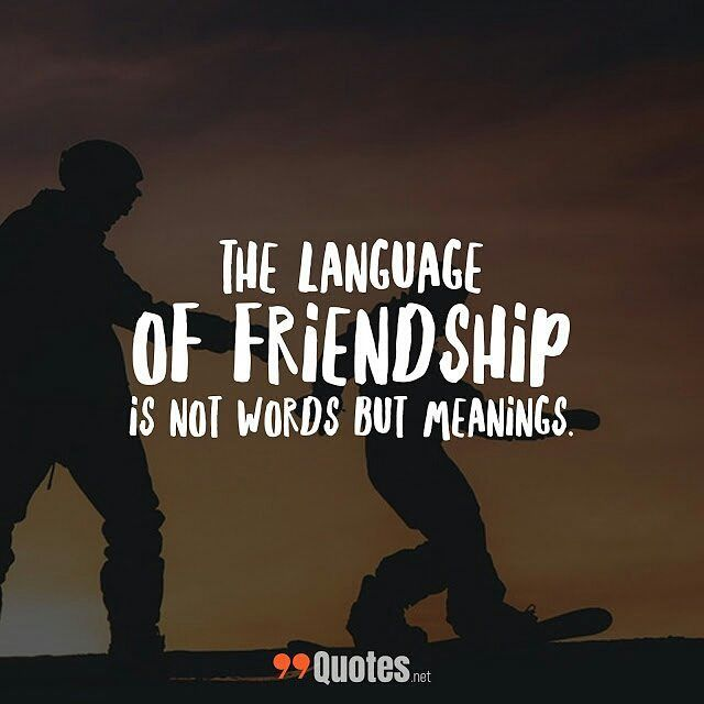 Cute Short Friendship Quotes: the language of friendship is ...
