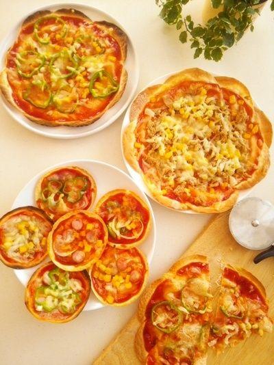 餃子の皮で作る薄焼きピザ《フライパン・オーブン・トースターそれぞれ ...