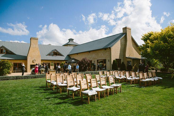 Southern Highlands wedding. Centennial Vineyard Bowral out door wedding ceremony. Image: Cavanagh Photography http://cavanaghphotography.com.au
