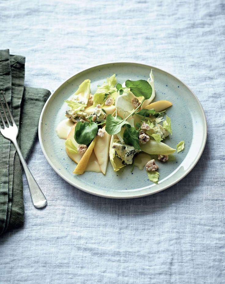 Watercress, pear and celeriac salad, candied walnuts, blue cheese by Philippa Sibley from New Classics | Cooked