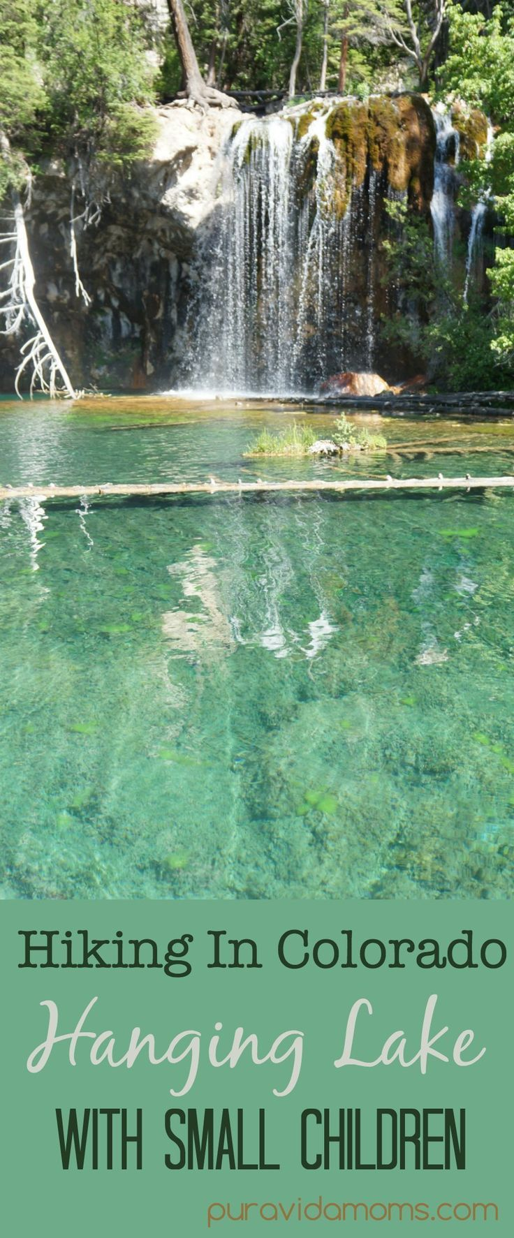 hiking in colorado hanging lake with small children