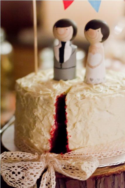 Cake cut... Love the dark red colour!