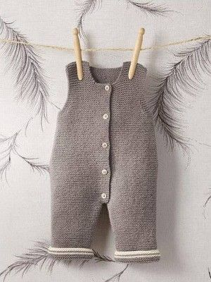 Baby romper knitting pattern from the Bergere de France Creations pattern book…