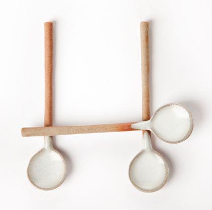spoons from Ashes & Milk. I'm loving anything that combines ceramics and wood.