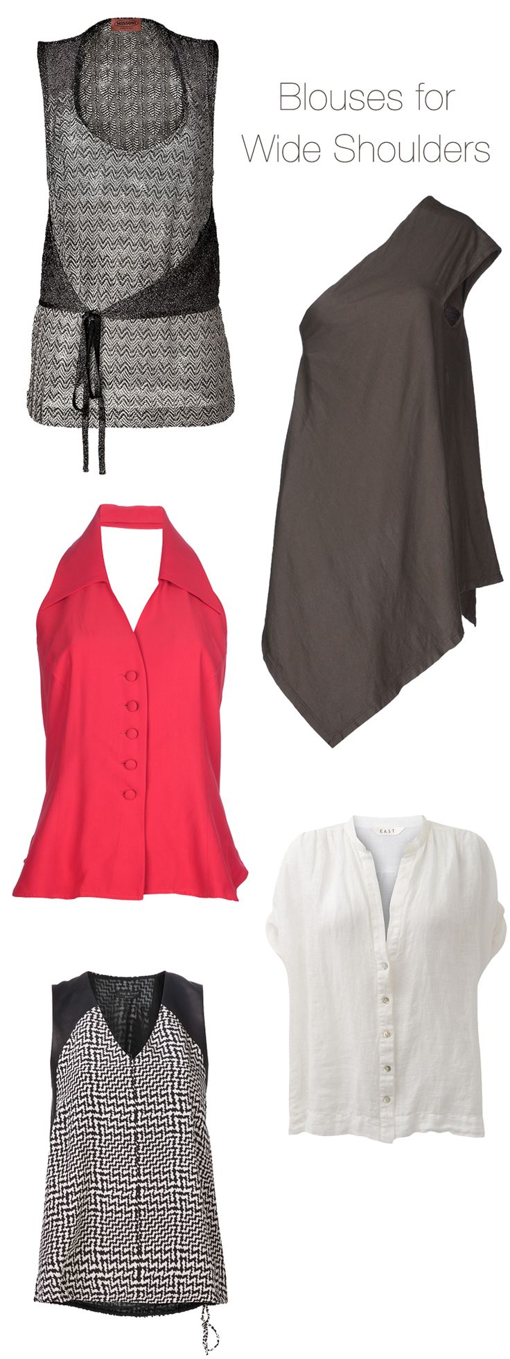 flattering blouses for broad shoulders - Google Search