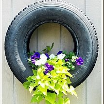 Old tires don't have to be useless, there are so many fabulous project… :: Hometalk    I would paint this tire white first