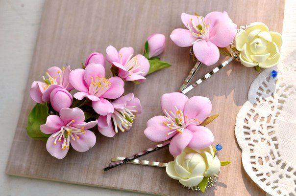 Веночки Ободки Цветочные украшения Броши Заколки