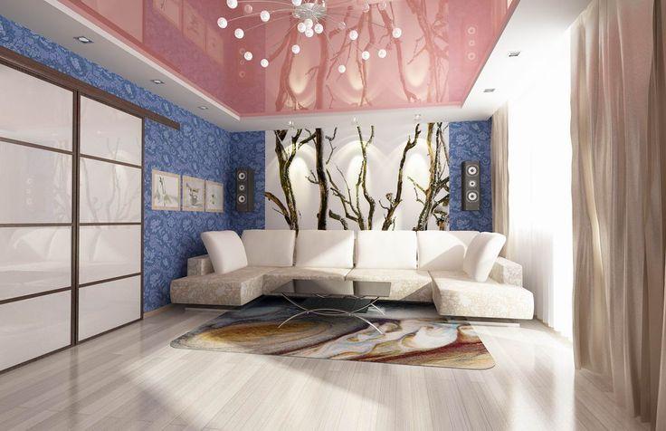 Синяя гостиная, дизайн интерьера, в синих тонах, цвете, мебель, стены, пол, фото, видео | Все о дизайне и ремонте дома