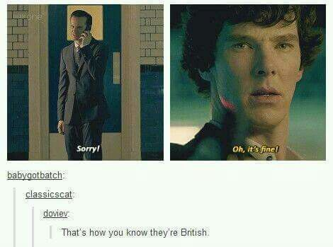 Moriarty is Irish...<<< It's the manners dear.