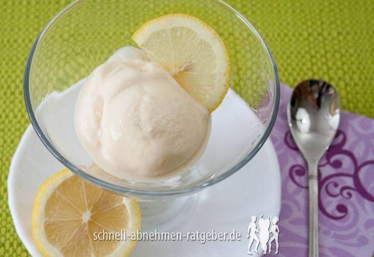 Zitronen-Buttermilch-Eis