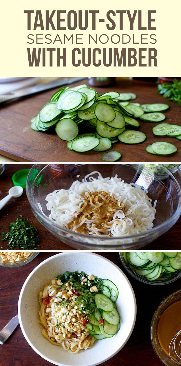 Takeout-style Sesame Noodles with Cucumber   Here's What You Should Eat For Dinner This Week