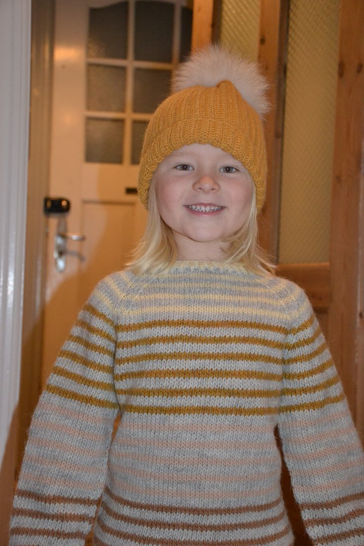 Crochet beanie by me and knit by my mother <3 My sweet girl 4 years old <3