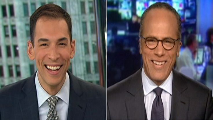 'Hi Dad': Watch Lester Holt and son's sweet on-air moment