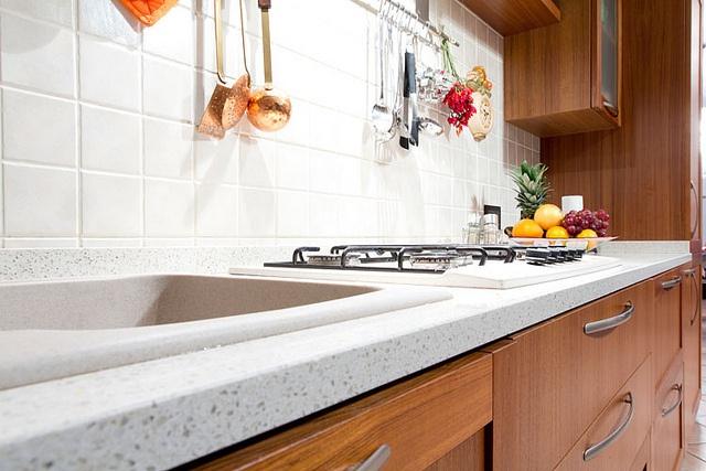 Alter / Cucina - Villa Monticello Brianza    Dettaglio piano di lavoro in quarzite
