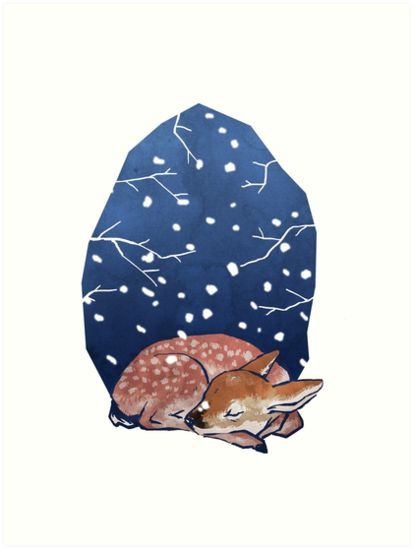 Sleeping Fawn by bendrawslife
