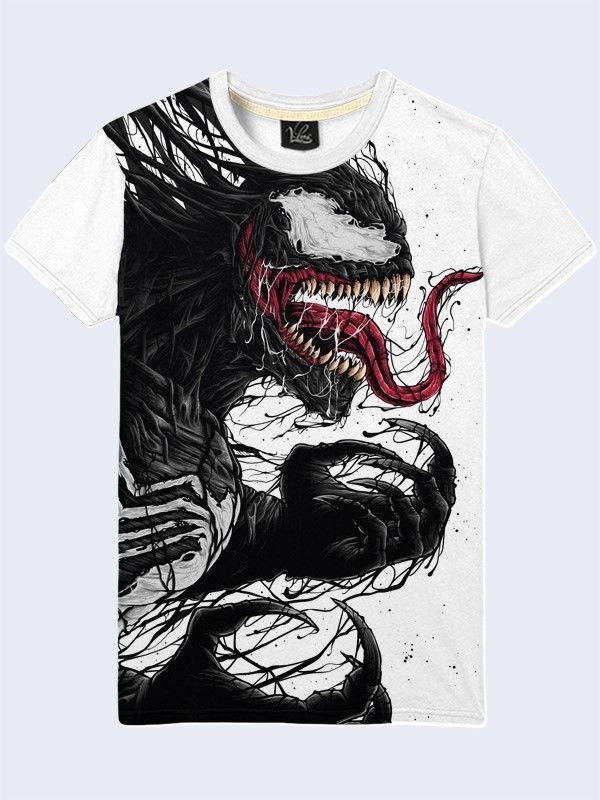 dd6e5a5366b Venom Marvel Evil Face T Shirt Casual Men Short Sleeve New Size S-2XL   tshirt  marvel