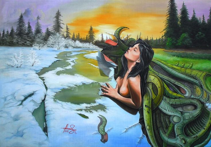 """My Spring Storm"""" Oil on canvas.  #art #painter #painting #surrealism"""