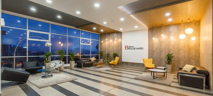 Dise o interior moderno contemporaneo lobby edificio for Diseno de lobby de hoteles