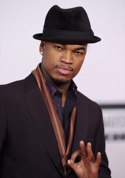 Ne-Yo matched his chocolate velvety fedora to a sleek suit