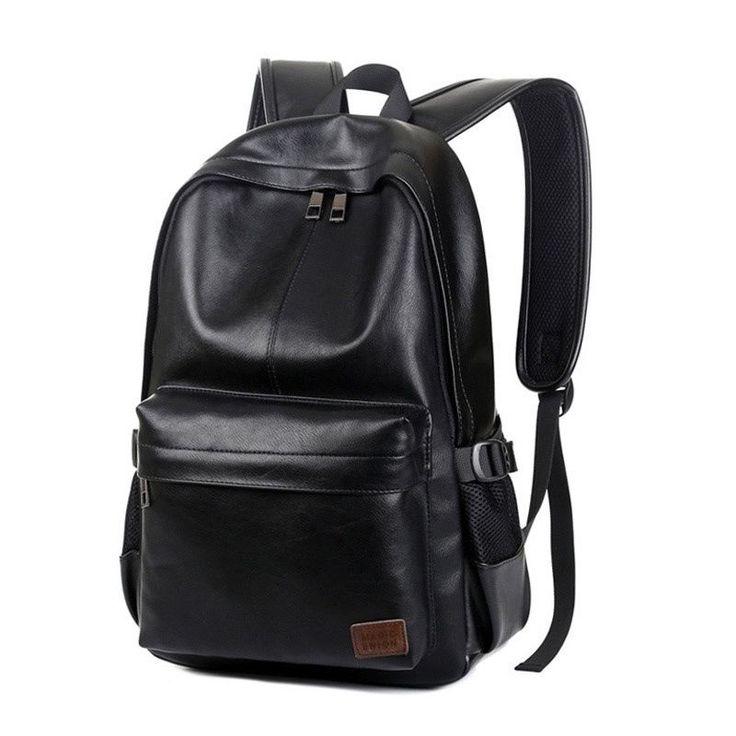 Quality Vintage Men Leather Backpack Men Business Backpack Travel Luggage Bag