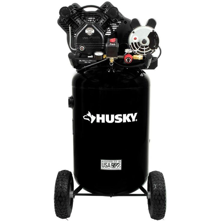 Husky 30 Gal. 155 psi Ultra-Quiet Portable Electric Air Compressor