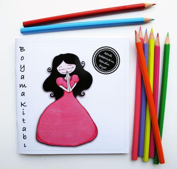 bobarova coloring book by bobarova on Etsy