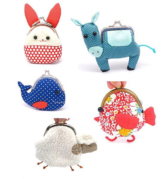 Misala Handmade Little Frame Coin Purses on Etsy Bunny, Sheep, whale