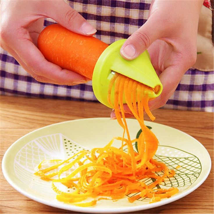 Kitchen Tools Accessories Gadget Funnel Model Spiral Slicer Vegetable Shred Device Cooking Salad Carrot Radish Cutter Peeler