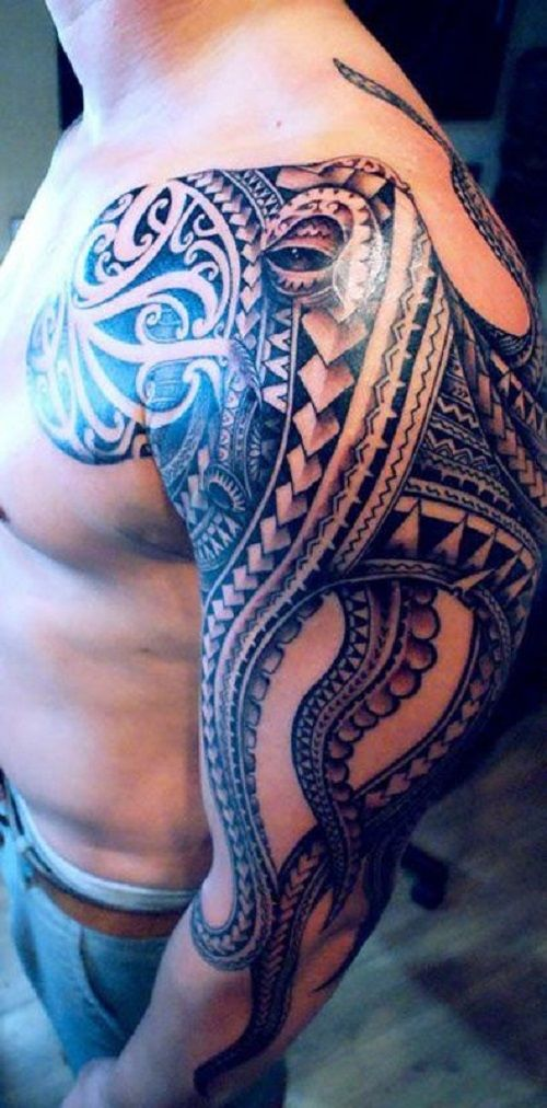 Tribal+Octopus+Tattoo+Sleeve