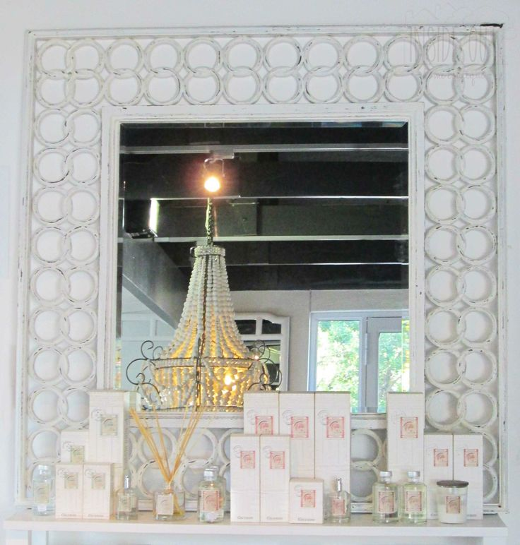 Whitewashed Link Mirror - 1200mm x 1200mm - Inside Out Home Boutique - Please check stock availability