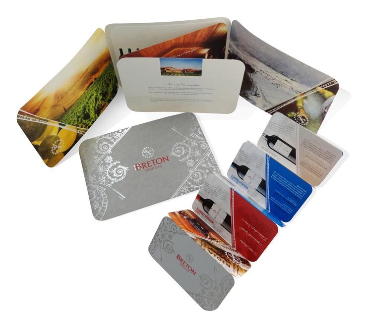 Catalogo de imagen y producto en desplegable para Bodegas Bretón.