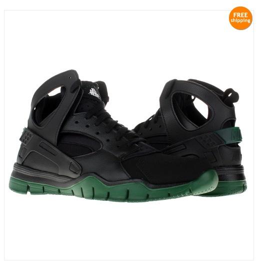 NIKE Air Huarache Bball 2012 Black/Gorge Green Mens Basketball Shoes  488054-003