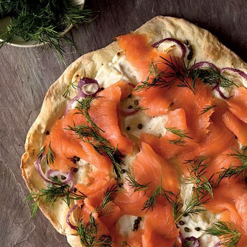 Healthy Smoked Salmon Thin-Crust Pizza Recipe