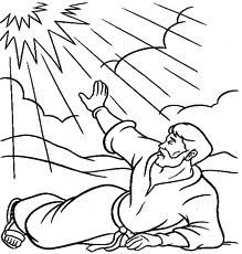Coloring page of Saul on the road to Damascus