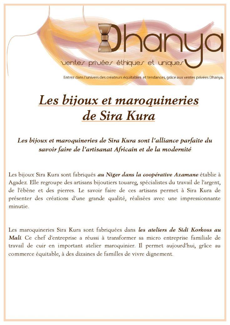 """Alizée Dubois développe la marque Dhanya : vente privée de bijoux originaux équitables. Ici sa gamme de bijoux """"Sira Kura"""" Ils viennent directement du Niger, où ils sont fabriqués par des artisans locaux. En argent et ébène ils apportent un côté chic et intemporel à vos tenues"""